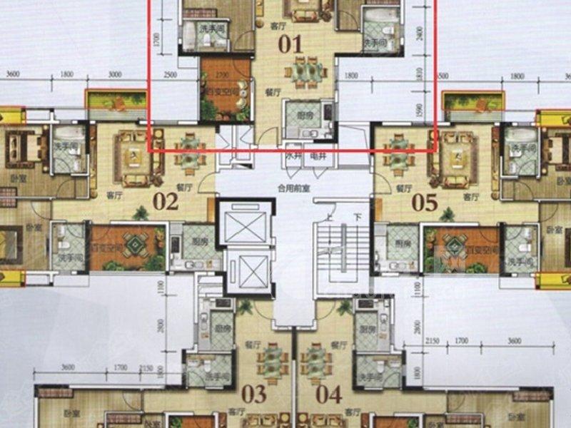 美的時代城二手房戶型圖