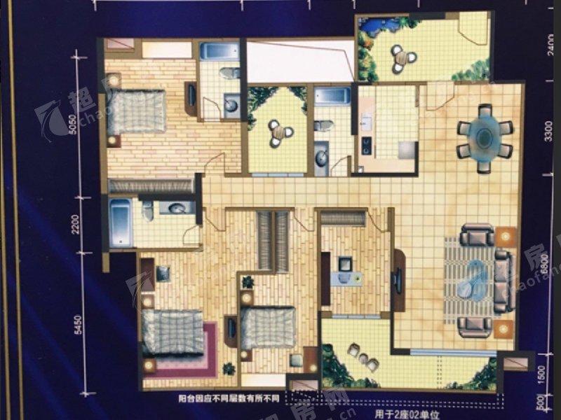 西山上筑二手房戶型圖