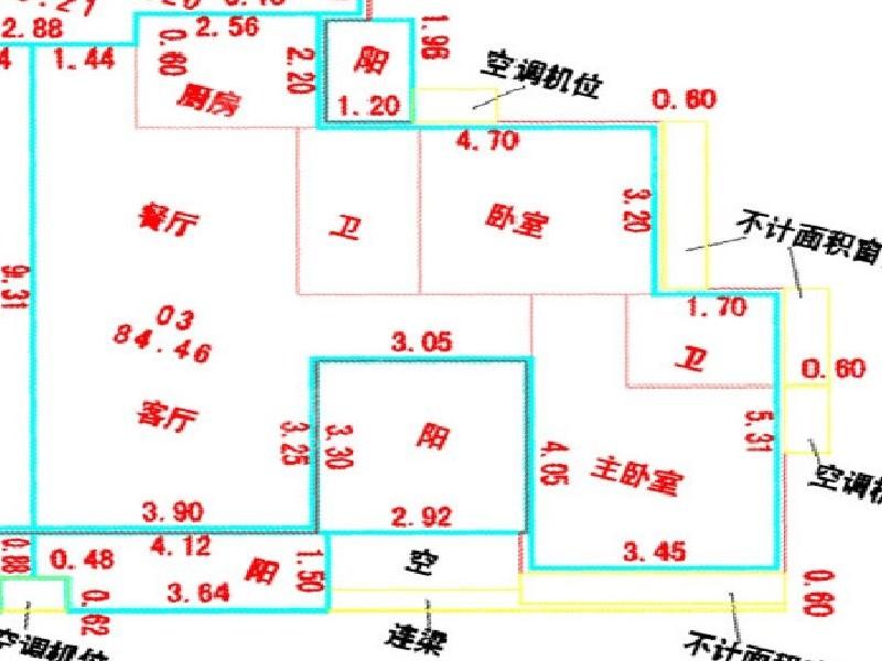 品峰薈豪庭二手房戶型圖