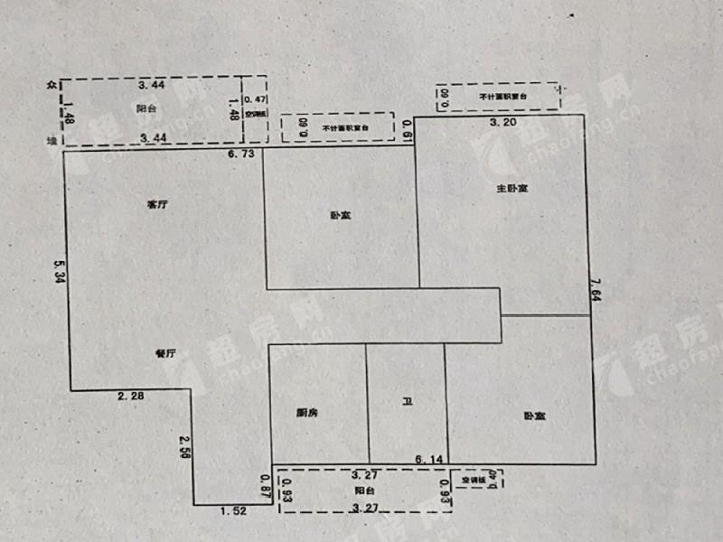 康格斯花園二手房戶型圖